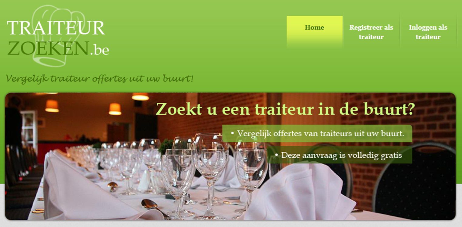 home page traiteurzoeken.be